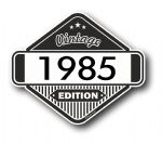 VIntage Edition 1985 Classic Retro Cafe Racer Design External Vinyl Car Motorcyle Sticker 85x70mm